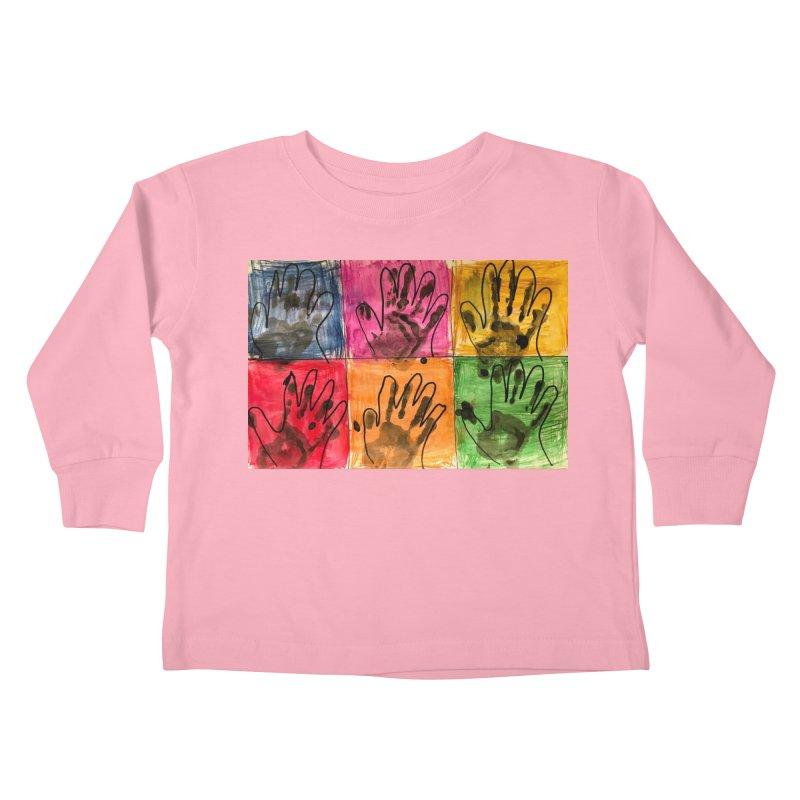 Warhol Hands Kids Toddler Longsleeve T-Shirt by Access Art's Youth Artist Shop