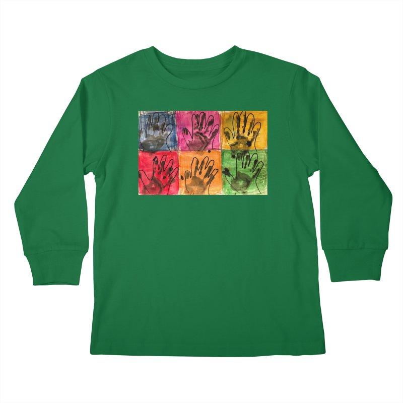 Warhol Hands Kids Longsleeve T-Shirt by Access Art's Youth Artist Shop