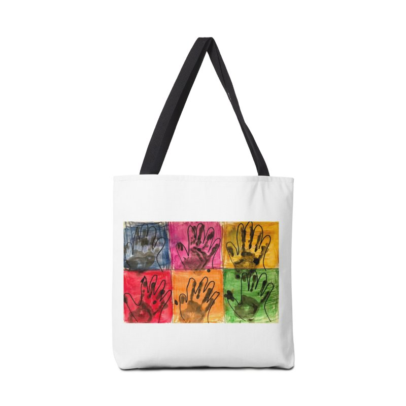 Warhol Hands Accessories Bag by Access Art's Youth Artist Shop