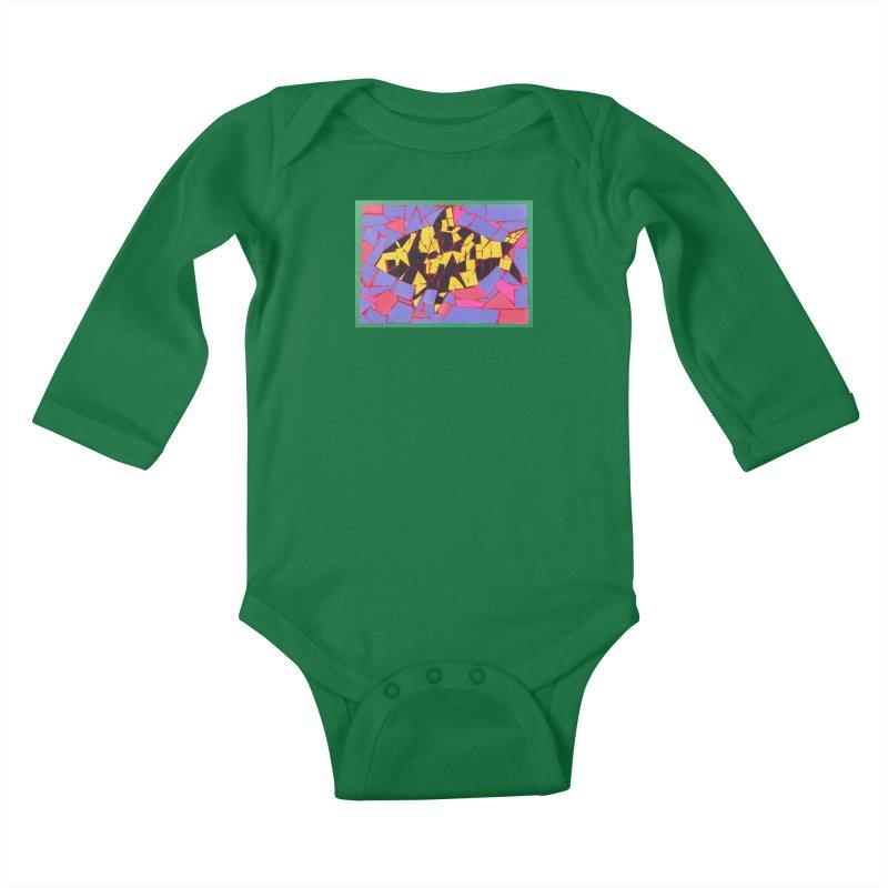 Fragment Fish Kids Baby Longsleeve Bodysuit by Access Art's Youth Artist Shop