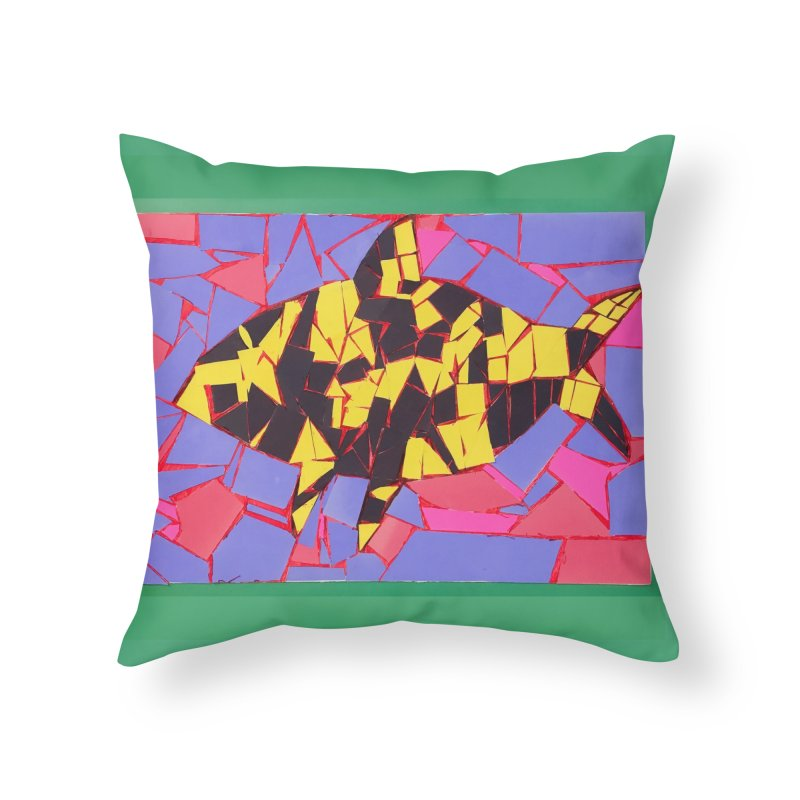 Fragment Fish Home Throw Pillow by Access Art's Youth Artist Shop