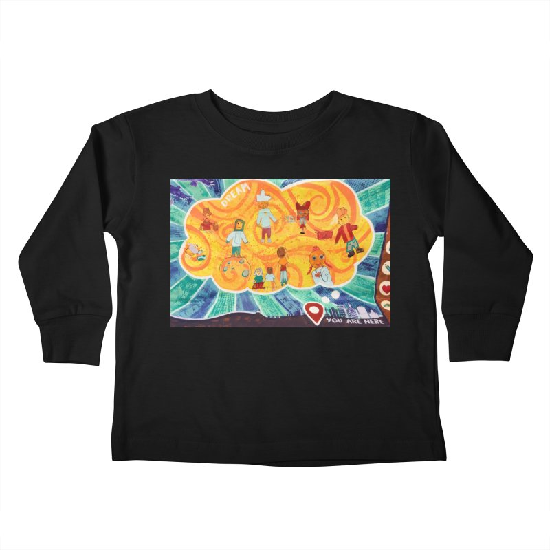 Dream: You Are Here Kids Toddler Longsleeve T-Shirt by Access Art's Youth Artist Shop