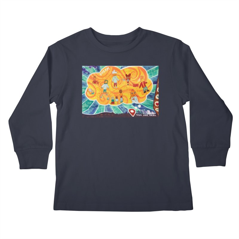 Dream: You Are Here Kids Longsleeve T-Shirt by Access Art's Youth Artist Shop