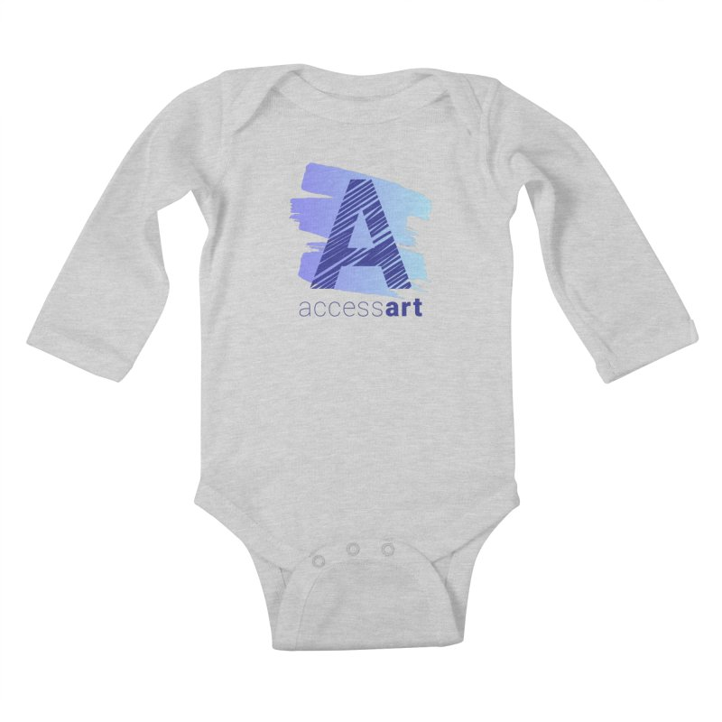 Access Art Connects Kids Baby Longsleeve Bodysuit by Access Art's Youth Artist Shop
