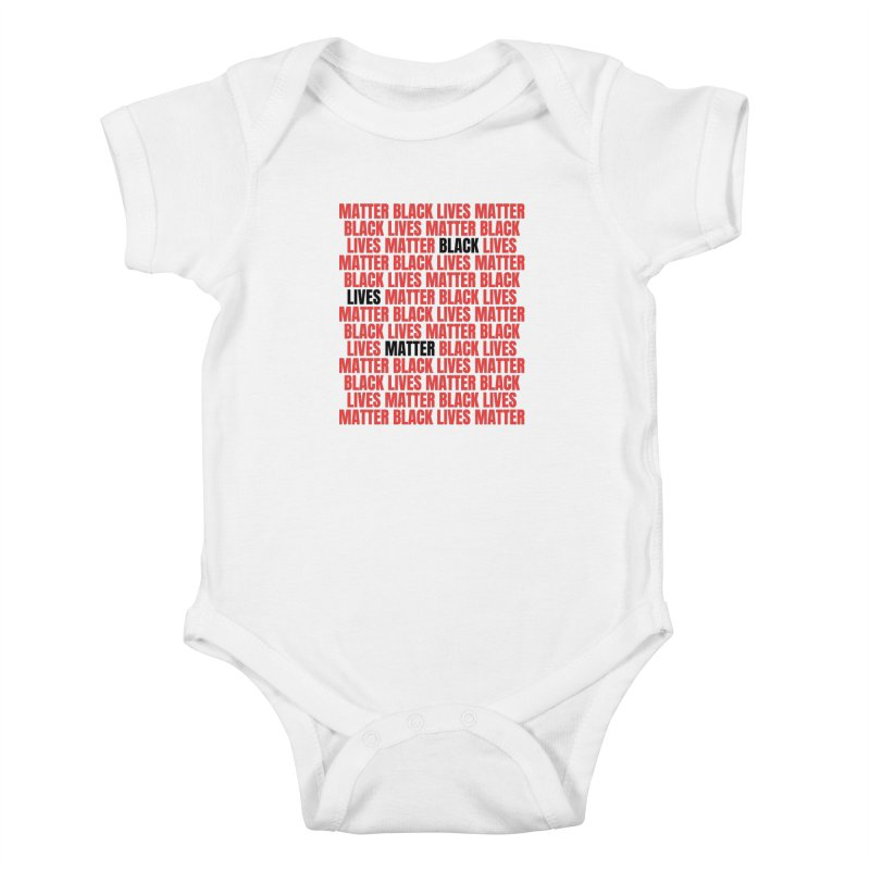 Repeat - Black Lives Matter - Red/White Kids Baby Bodysuit by Accomplish That...      Boutique