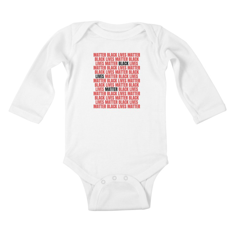 Repeat - Black Lives Matter - Red/White Kids Baby Longsleeve Bodysuit by Accomplish That...      Boutique