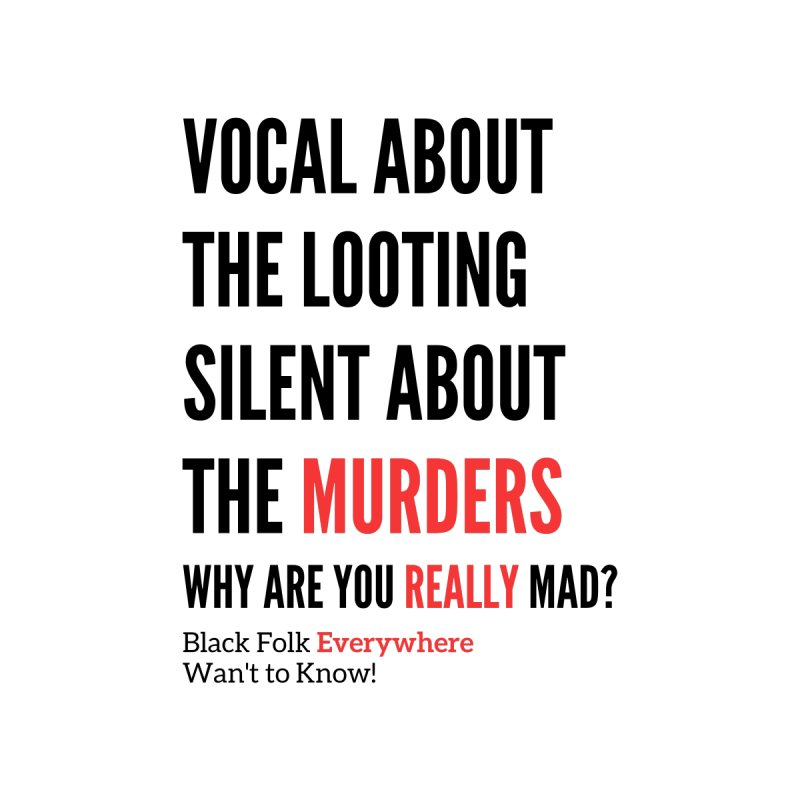 Vocal About Looting - Silent About Murder - White Women's Tank by Accomplish That...      Boutique