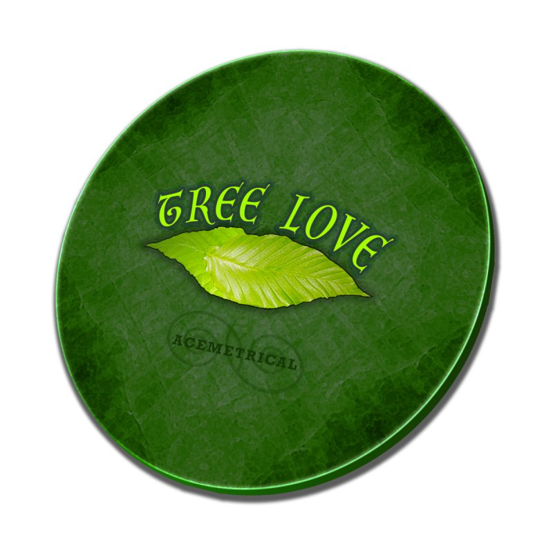 Tree Love ( / ) Green Leaf Lips Home Mounted Aluminum Print by ACEMETRICAL ( / ) Disc Golf