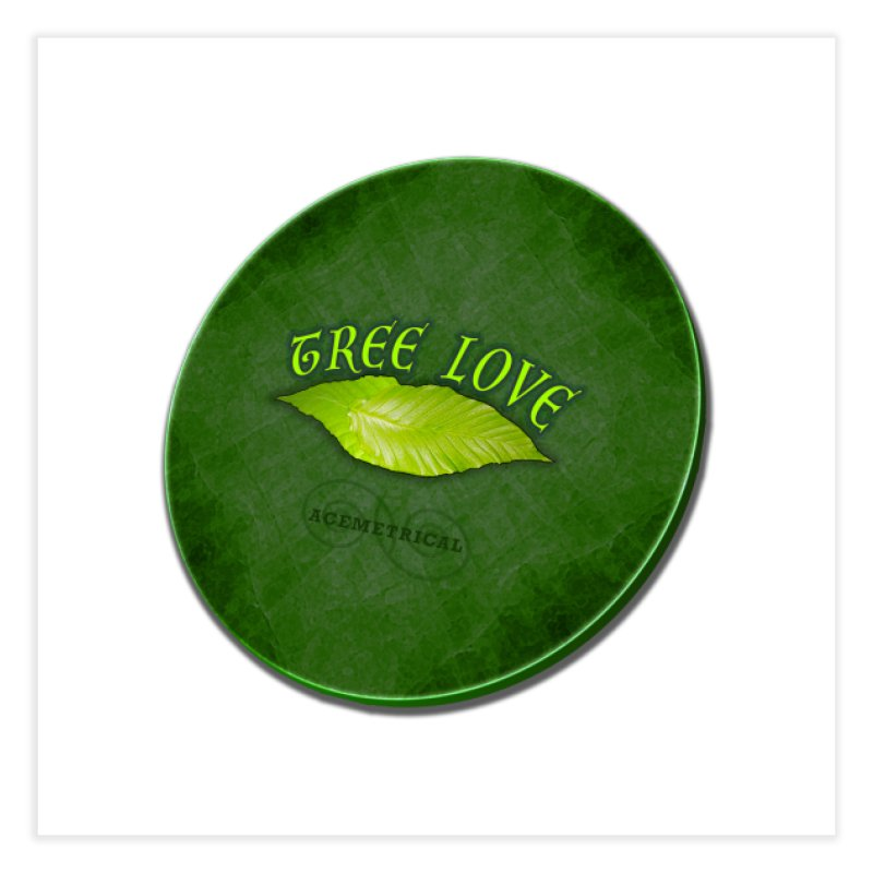 Tree Love ( / ) Green Leaf Lips Home Fine Art Print by ACEMETRICAL ( / ) Disc Golf