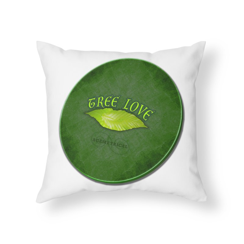 Tree Love ( / ) Green Leaf Lips Home Throw Pillow by ACEMETRICAL ( / ) Disc Golf