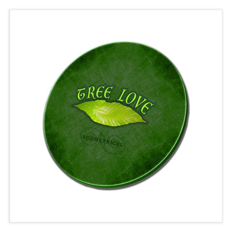 Tree Love ( / ) Green Leaf Lips Home Fine Art Print by ACEMETRICAL ( / ) Disc Golf