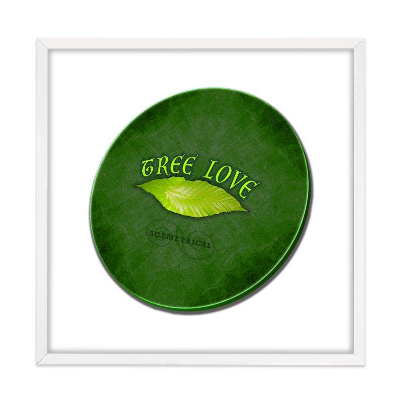 Tree Love ( / ) Green Leaf Lips Home Framed Fine Art Print by ACEMETRICAL ( / ) Disc Golf