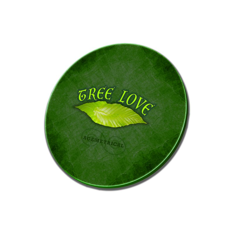 Tree Love ( / ) Green Leaf Lips Men's T-Shirt by ACEMETRICAL ( / ) Disc Golf