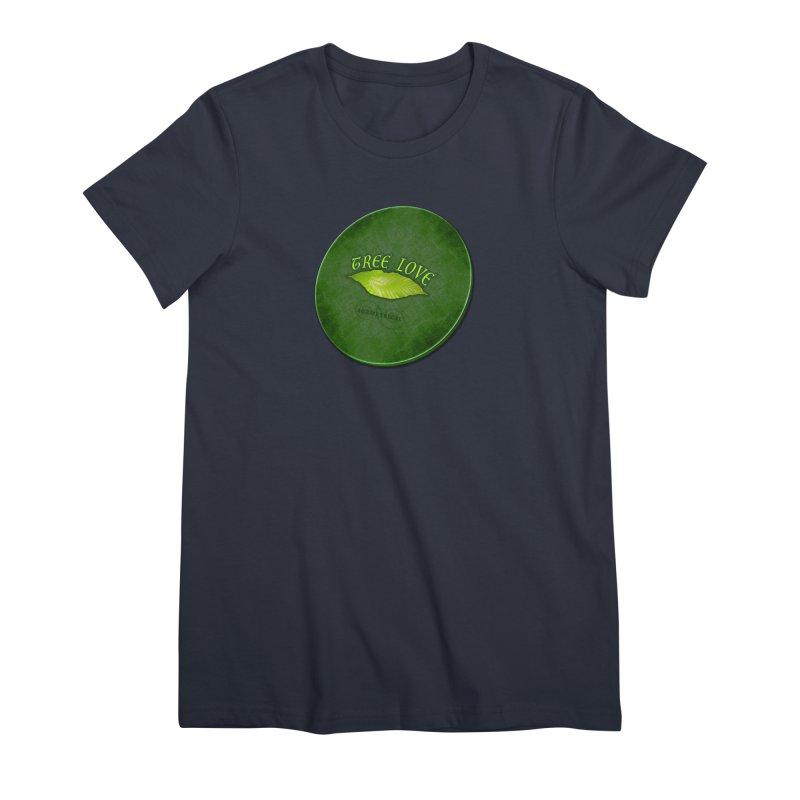 Tree Love ( / ) Green Leaf Lips Women's Premium T-Shirt by ACEMETRICAL ( / ) Disc Golf