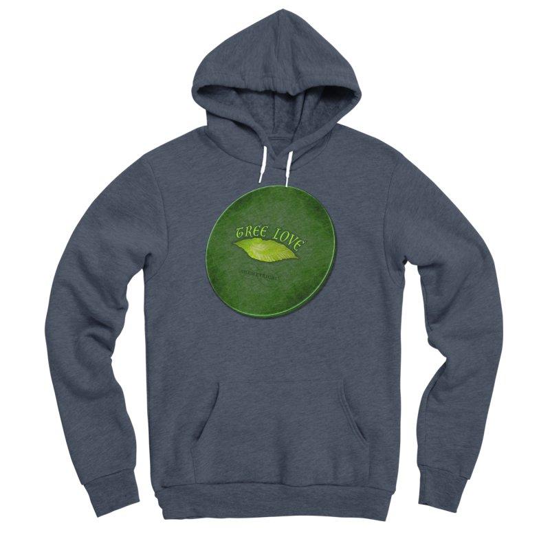 Tree Love ( / ) Green Leaf Lips Men's Sponge Fleece Pullover Hoody by ACEMETRICAL ( / ) Disc Golf