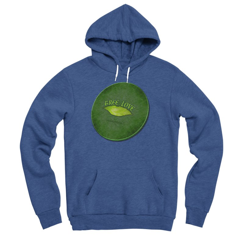 Tree Love ( / ) Green Leaf Lips Men's Sponge Fleece Pullover Hoody by ACEMETRICAL ( / ) Disc Golf