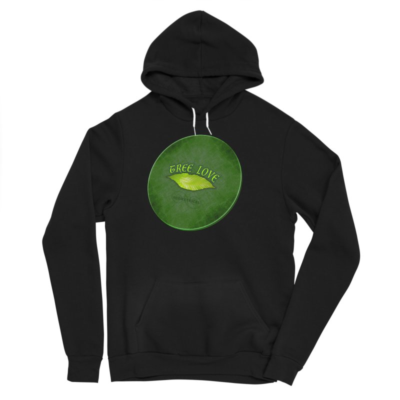 Tree Love ( / ) Green Leaf Lips Women's Sponge Fleece Pullover Hoody by ACEMETRICAL ( / ) Disc Golf
