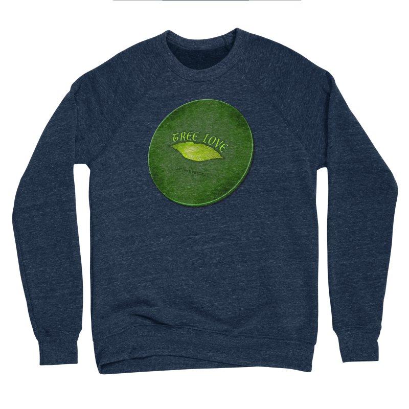 Tree Love ( / ) Green Leaf Lips Women's Sponge Fleece Sweatshirt by ACEMETRICAL ( / ) Disc Golf