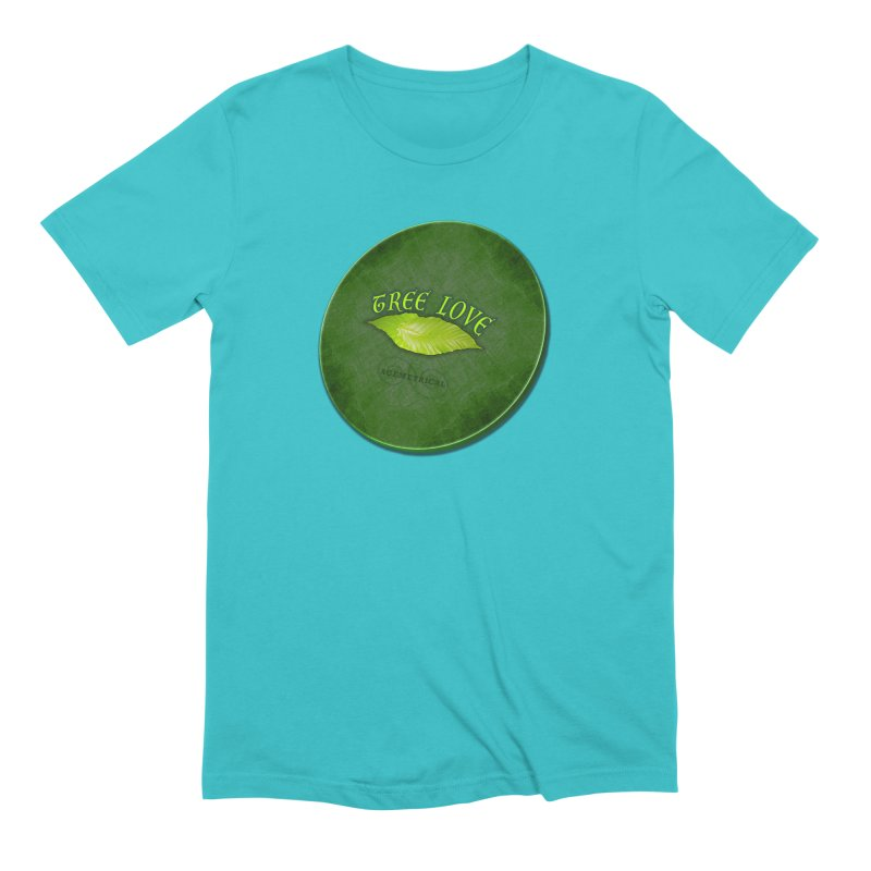 Tree Love ( / ) Green Leaf Lips Men's Extra Soft T-Shirt by ACEMETRICAL ( / ) Disc Golf