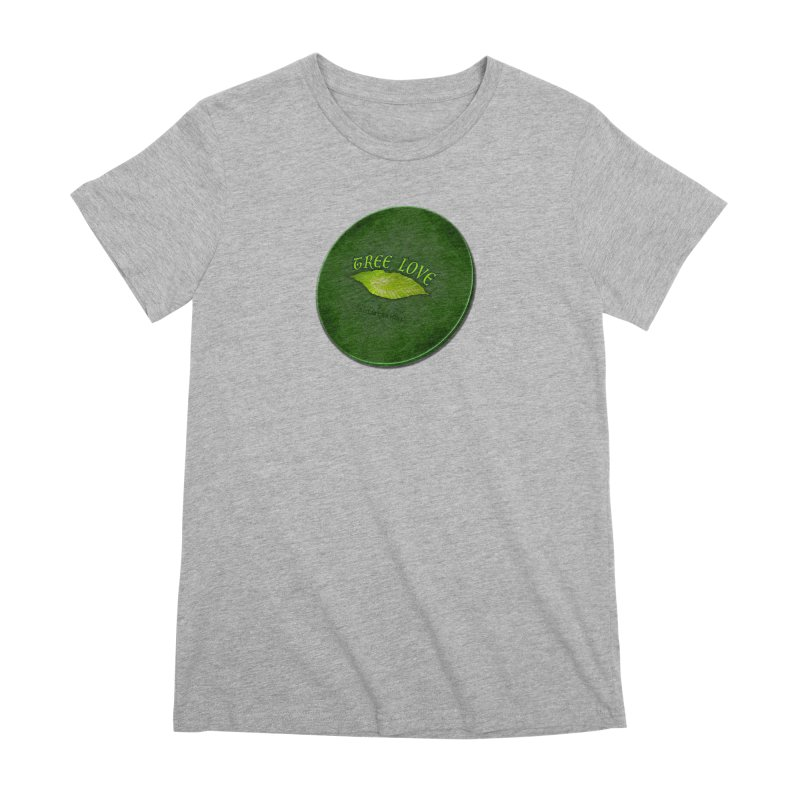 Tree Love ( / ) Green Leaf Lips Women's Premium T-Shirt by ACEMETRICAL ( / ) Disc Golf
