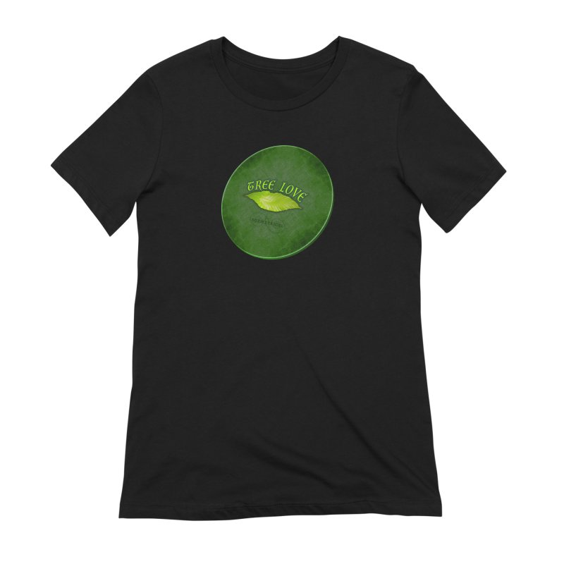 Tree Love ( / ) Green Leaf Lips Women's Extra Soft T-Shirt by ACEMETRICAL ( / ) Disc Golf