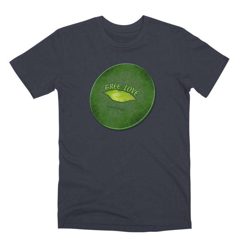 Tree Love ( / ) Green Leaf Lips Men's Premium T-Shirt by ACEMETRICAL ( / ) Disc Golf
