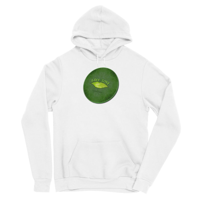 Tree Love ( / ) Green Leaf Lips Men's Pullover Hoody by ACEMETRICAL ( / ) Disc Golf
