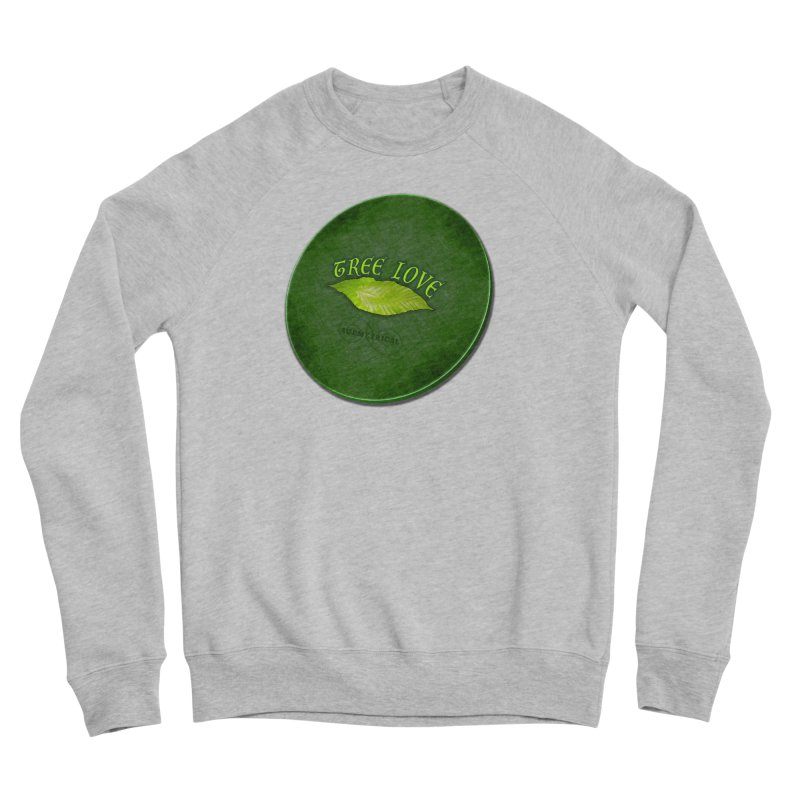 Tree Love ( / ) Green Leaf Lips Women's Sponge Fleece Sweatshirt by ACEMETRICAL ( / ) Disc Golf