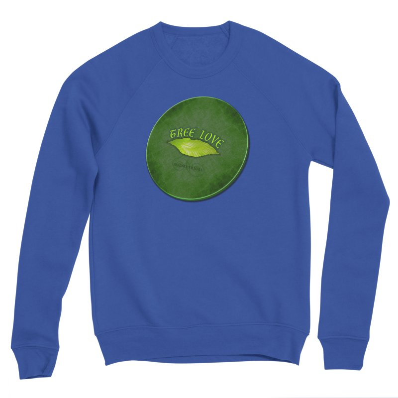 Tree Love ( / ) Green Leaf Lips Men's Sponge Fleece Sweatshirt by ACEMETRICAL ( / ) Disc Golf