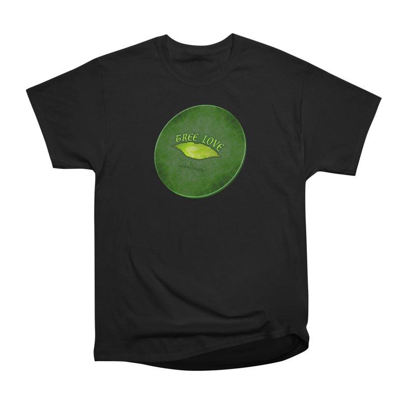 Tree Love ( / ) Green Leaf Lips Women's Heavyweight Unisex T-Shirt by ACEMETRICAL ( / ) Disc Golf