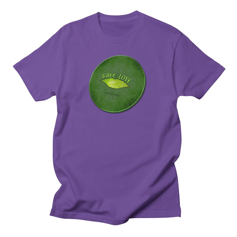 Tree Love ( / ) Green Leaf Lips Women's Regular Unisex T-Shirt by ACEMETRICAL ( / ) Disc Golf