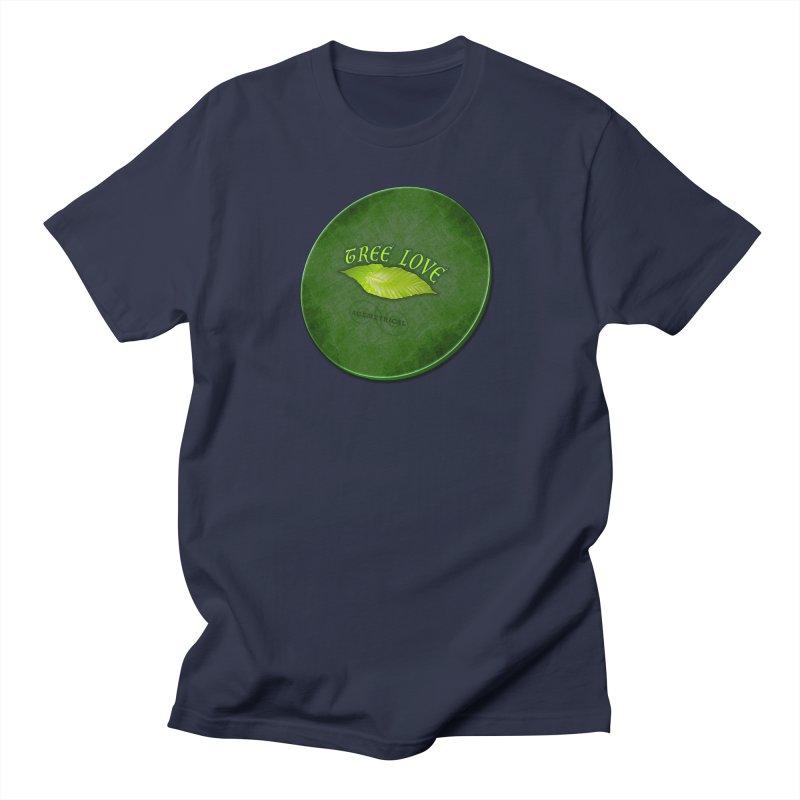 Tree Love ( / ) Green Leaf Lips Men's Regular T-Shirt by ACEMETRICAL ( / ) Disc Golf