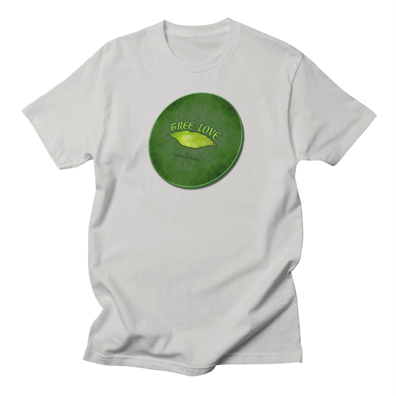 Tree Love ( / ) Green Leaf Lips Women's Regular Unisex T-Shirt by ACEMETRICAL ( / ) Disc Golf