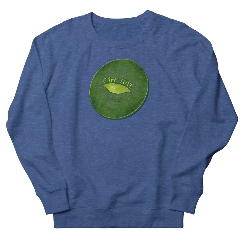 Tree Love ( / ) Green Leaf Lips Women's French Terry Sweatshirt by ACEMETRICAL ( / ) Disc Golf