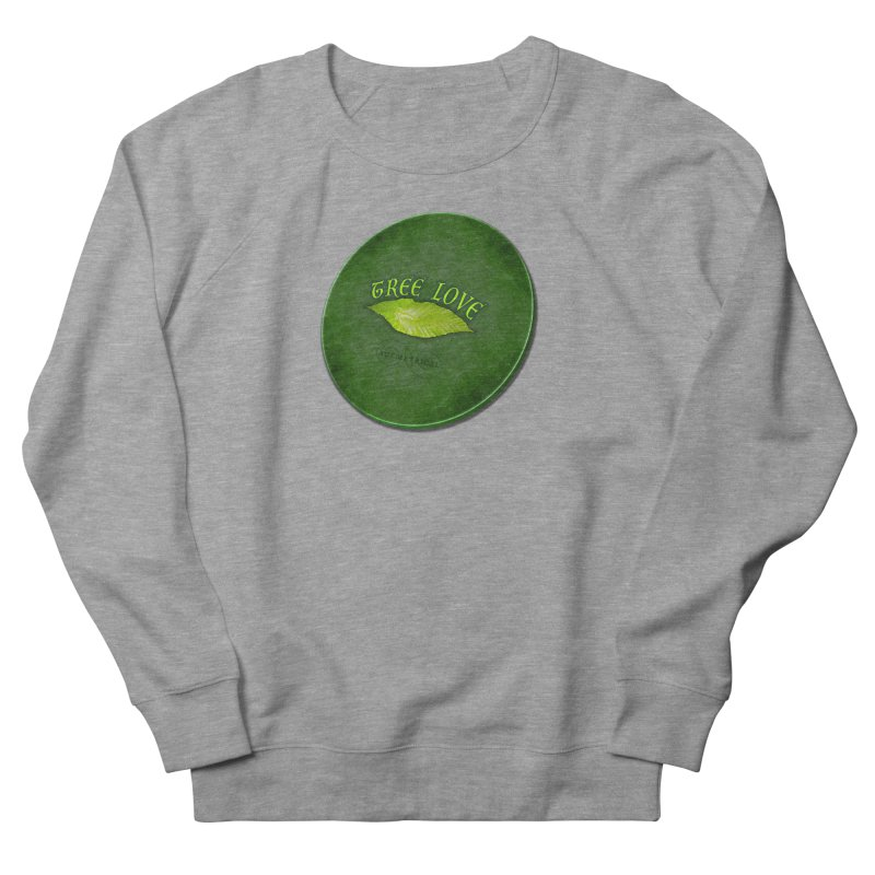 Tree Love ( / ) Green Leaf Lips Men's French Terry Sweatshirt by ACEMETRICAL ( / ) Disc Golf