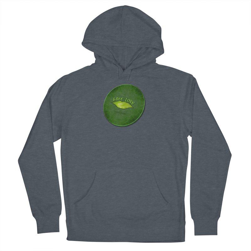 Tree Love ( / ) Green Leaf Lips Women's Pullover Hoody by ACEMETRICAL ( / ) Disc Golf