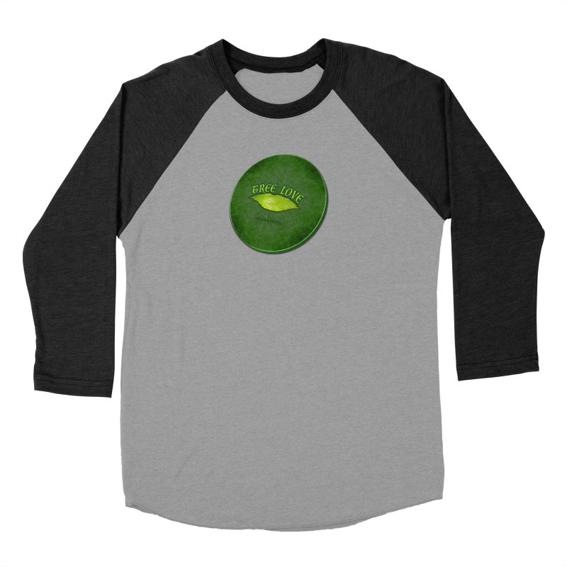 Tree Love ( / ) Green Leaf Lips Women's Baseball Triblend Longsleeve T-Shirt by ACEMETRICAL ( / ) Disc Golf
