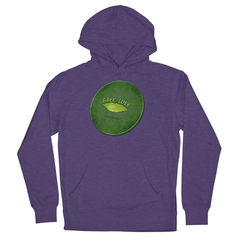 Tree Love ( / ) Green Leaf Lips Women's French Terry Pullover Hoody by ACEMETRICAL ( / ) Disc Golf
