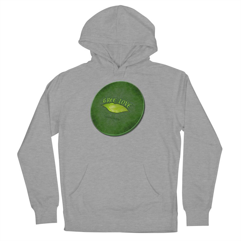 Tree Love ( / ) Green Leaf Lips Men's French Terry Pullover Hoody by ACEMETRICAL ( / ) Disc Golf