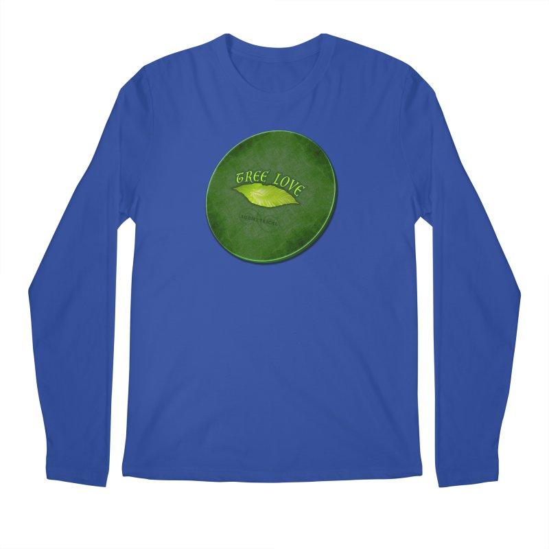 Tree Love ( / ) Green Leaf Lips Men's Regular Longsleeve T-Shirt by ACEMETRICAL ( / ) Disc Golf