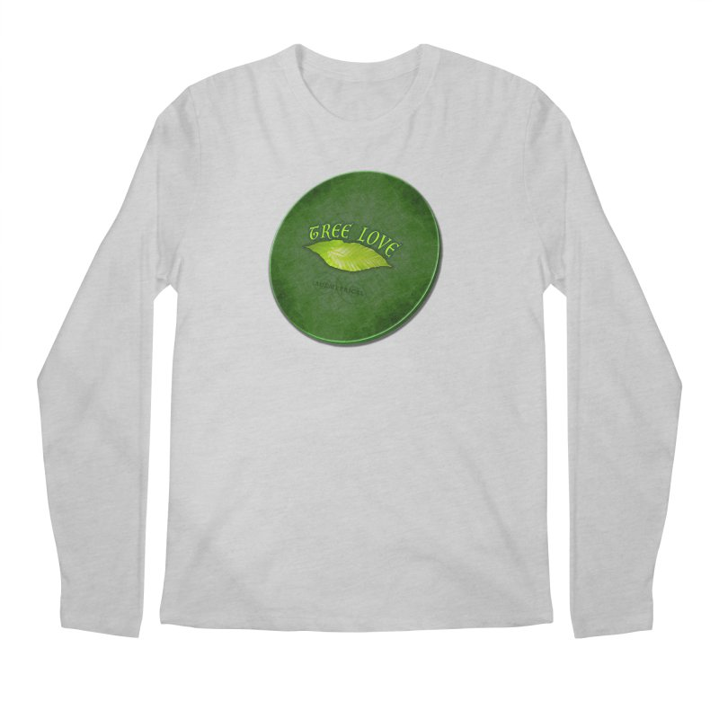 Tree Love ( / ) Green Leaf Lips Men's Longsleeve T-Shirt by ACEMETRICAL ( / ) Disc Golf