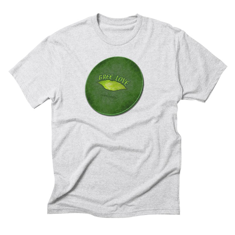 Tree Love ( / ) Green Leaf Lips Men's Triblend T-Shirt by ACEMETRICAL ( / ) Disc Golf