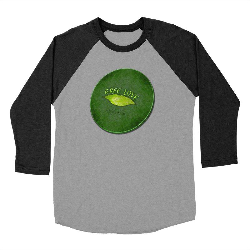 Tree Love ( / ) Green Leaf Lips Women's Baseball Triblend Longsleeve T-Shirt by ACEMETRICAL ( / ) Disc Golf