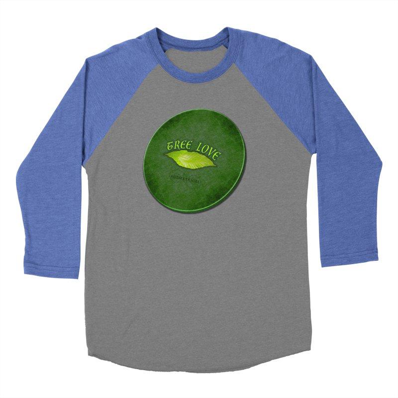 Tree Love ( / ) Green Leaf Lips Men's Baseball Triblend Longsleeve T-Shirt by ACEMETRICAL ( / ) Disc Golf