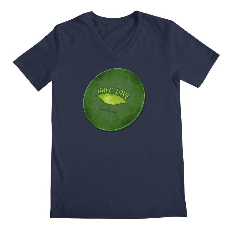 Tree Love ( / ) Green Leaf Lips Men's Regular V-Neck by ACEMETRICAL ( / ) Disc Golf