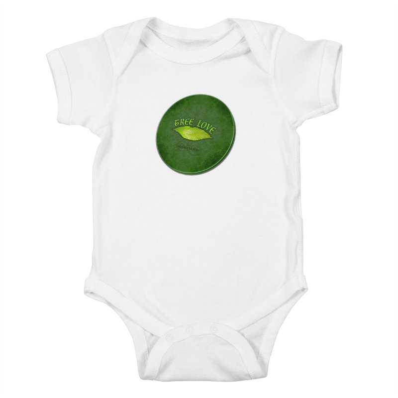 Tree Love ( / ) Green Leaf Lips Kids Baby Bodysuit by ACEMETRICAL ( / ) Disc Golf