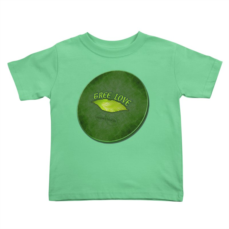 Tree Love ( / ) Green Leaf Lips Kids Toddler T-Shirt by ACEMETRICAL ( / ) Disc Golf