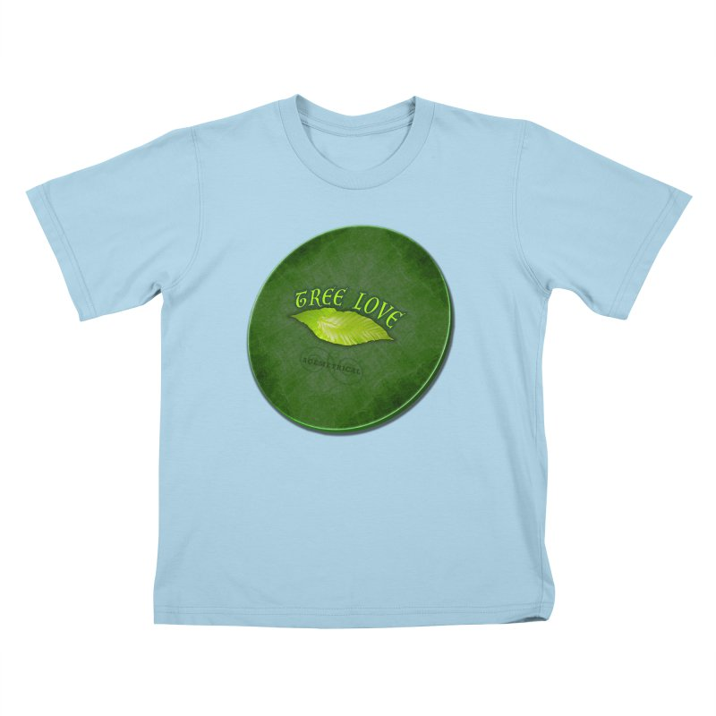 Tree Love ( / ) Green Leaf Lips Kids T-Shirt by ACEMETRICAL ( / ) Disc Golf
