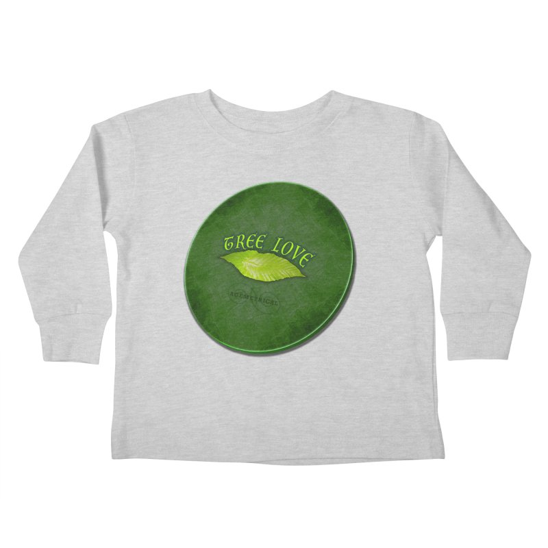 Tree Love ( / ) Green Leaf Lips Kids Toddler Longsleeve T-Shirt by ACEMETRICAL ( / ) Disc Golf
