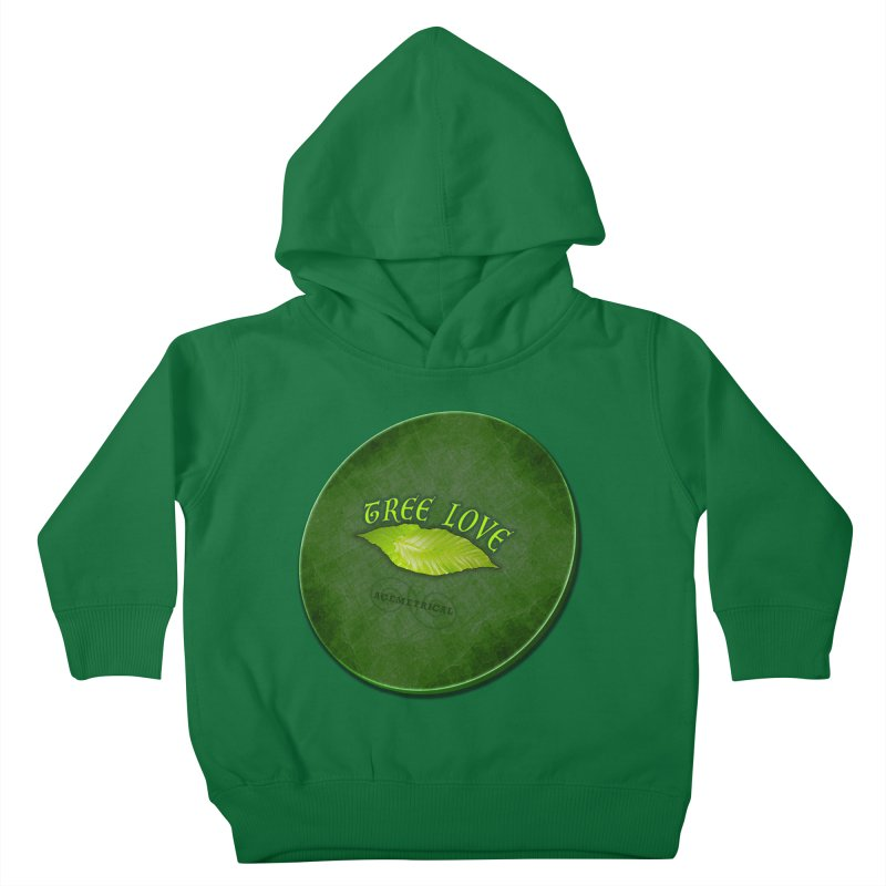 Tree Love ( / ) Green Leaf Lips Kids Toddler Pullover Hoody by ACEMETRICAL ( / ) Disc Golf